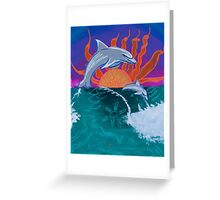 'Dolphin Swim' by Bella Pease (2015) Greeting Card
