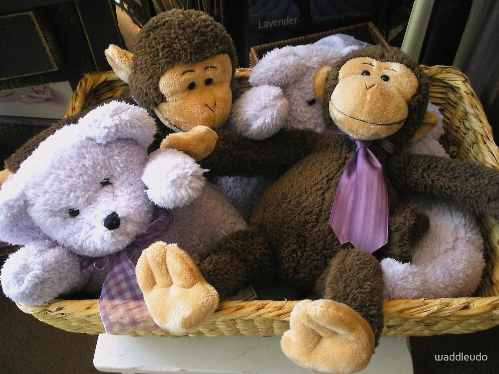 """Basket of Monkeys & Bears, Oh My"" by waddleudo"