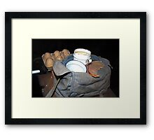 Breakfast is served Framed Print