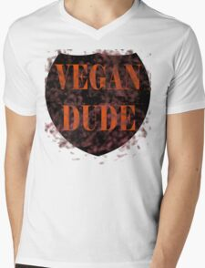 Vegan Dude Mens V-Neck T-Shirt