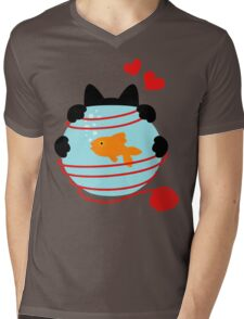 Wool Web Mens V-Neck T-Shirt