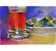 Beer Glass & Lemons 2 Photographic Print