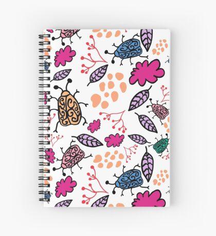 coloured beetles  Spiral Notebook