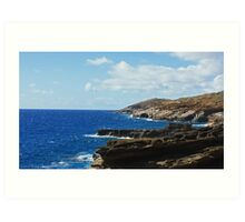 oahu coastline Art Print