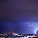 Lightning over West Valley City, Utah by Ryan Houston