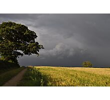 storm over the wheat fields Photographic Print