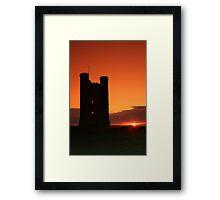 Broadway tower at sun set  Framed Print