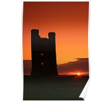 Broadway tower at sun set  Poster