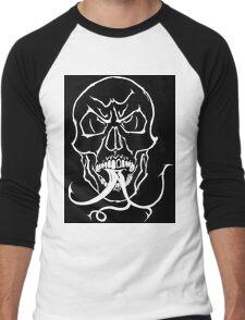 Tongue & Fork Men's Baseball ¾ T-Shirt