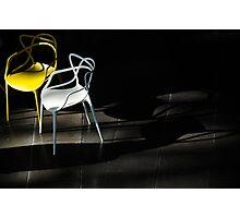 chairs like gossip too Photographic Print