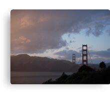 Golden Sunset/Golden Gate Canvas Print