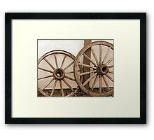 Rustic Wagon Wheels Framed Print