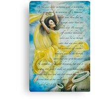 Dancing Glory with Isaiah Canvas Print