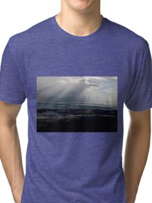 abstract hilly landscape Tri-blend T-Shirt