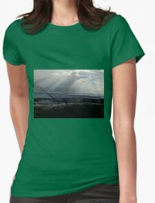 abstract hilly landscape Womens Fitted T-Shirt