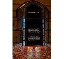 Entrance to St Paul's Melbourne Photographic Print