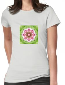 Lilac, Pink and Green Kaleidoscope Womens Fitted T-Shirt