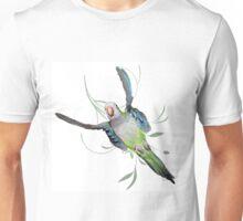 Flying green quaker parrot Unisex T-Shirt