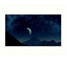 Jantis - Below the Nebula of the Five Crosses Art Print