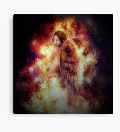 Facing Fire Doll Canvas Print