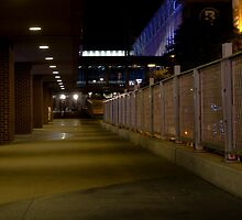 Walk to Twins Stadium at Night by Mark Jackson