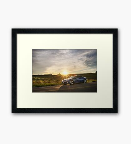 Genesis Coupe at Sunset Framed Print