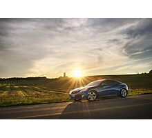 Genesis Coupe at Sunset Photographic Print