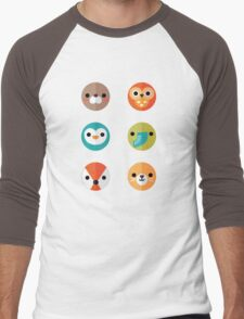 Smiley Faces - Set 2 Men's Baseball ¾ T-Shirt