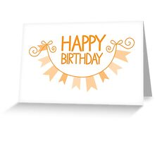 Happy Birthday bunting Greeting Card