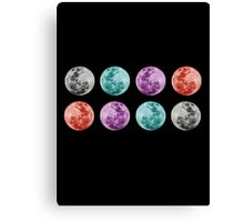 COLOURED MOONS Canvas Print