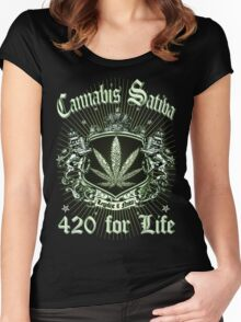 CANNABIS SATIVA Women's Fitted Scoop T-Shirt