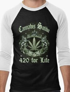 CANNABIS SATIVA Men's Baseball ¾ T-Shirt