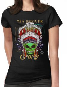 FIRST NATION CHEROKEE ALIEN Womens Fitted T-Shirt