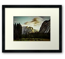 View from the Valley Floor Framed Print
