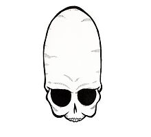 Grey Alien Skull by slshuttleworth