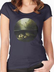 Forever lost Women's Fitted Scoop T-Shirt