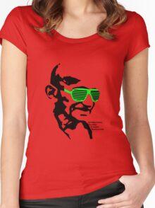 ISSA 2011 Gandhi Shades (White) Women's Fitted Scoop T-Shirt