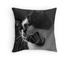 Jack the Cat Yawn 1 Throw Pillow