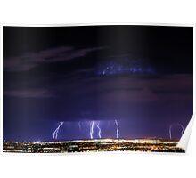 Salt Lake City - Lightning Poster