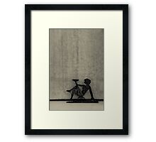 Candle Spent Framed Print