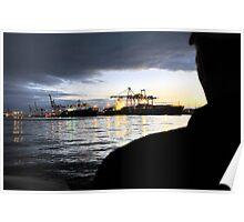 Fremantle harbour at dusk Poster