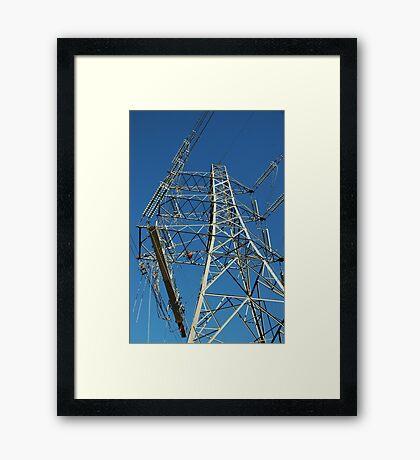 """Tension Tower and Platform c/w Hydraulic Pump"" Framed Print"