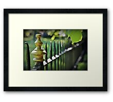 Wrought Iron Fence Framed Print