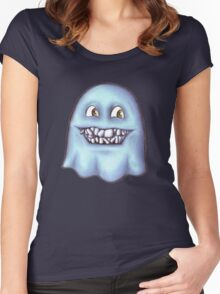 Ghost with the crooked teeth Women's Fitted Scoop T-Shirt