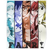 fairy tail erza natsu lucy juvia gray anime manga shirt Poster