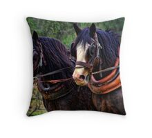 AUSSIE DRAUGHT HORSES Throw Pillow