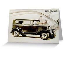 1929 Chevrolet Greeting Card