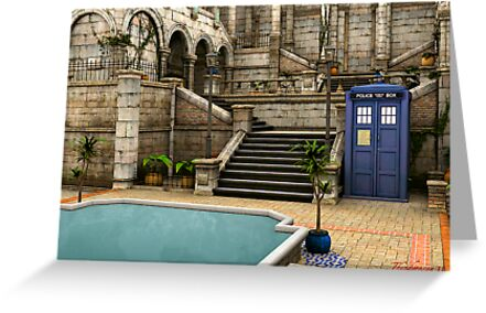 Courtyard Tardis by thunderossa