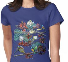 Fish, Feather & Flame Tree Flowers Womens Fitted T-Shirt