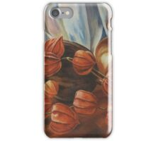 Chinese Lanterns with Vase, Oil Painting. iPhone Case/Skin